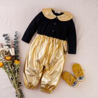 hibobi Baby Girl Golden Jumpsuit - Hibobi