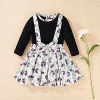 Vestido floral con lazo para niña pequeña de hibobi - Hibobi
