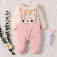 hibobi - Mono de manga larga con tirantes y estampado de conejo para bebé niña - Hibobi