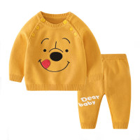 Toddler Girls Cartoon Animal Top & Pants Suit - Hibobi
