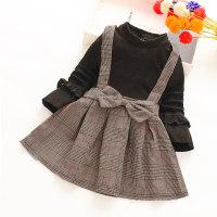 Classic Plaid Color-block Dress - Hibobi