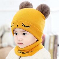 2-piece Cute Hat Bibs Beanies Hats Cotton Baby Bibs - Hibobi