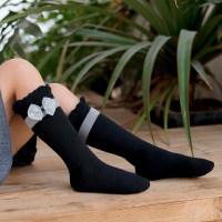 Ruffle Knee-High Stockings - Hibobi