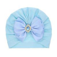 Girl Rhinestone Decor Bowknot Hat - Hibobi