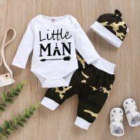 Stylish Letter Printed Camouflage Sweatshirt and Pant Set - Hibobi