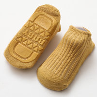 baby socks Solid color Cotton Socks Antiskid socks - Hibobi