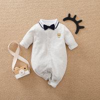 Mono con decoración de lazo bordado de perro para bebé niño - Hibobi