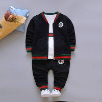3-piece Sporty Coat & Sweatshirts & Pants for Toddler Boy - Hibobi