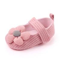 Velcro Design Flower Cotton Prewalker for Baby Girl - Hibobi