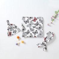 Conjunto de gorro y abrigo para recién nacido de tres piezas - Hibobi