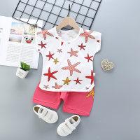 2pcs Cute Pentagram Print T-shirt and Pants - Hibobi