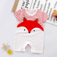 Fox Pattern Bodysuit for Baby - Hibobi