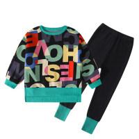 Pantalón y top con estampado de letras Kid Girl - Hibobi