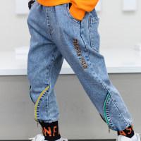 Pantalones casuales con bordado de letras Kid Boy - Hibobi