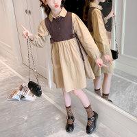 Vestido de chaleco de dos piezas falso para niña niño - Hibobi