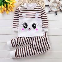 2-piece Cartoon Design Pajamas Sets for Toddler Girl - Hibobi