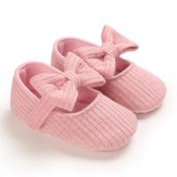 Bowknot Decor Slip-on Shoes for Baby Girl - Hibobi