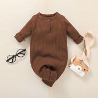 Lindo mono de manga larga liso para bebé - Hibobi