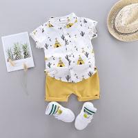 Baby Boy Cactus Print Casual Top & Shorts - Hibobi