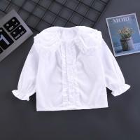 Camisa de manga larga de color liso para niña pequeña - Hibobi