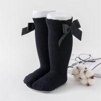 Bowknot Knee-High Stockings - Hibobi