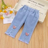 Toddler Girl Bow Decor Autumn Jeans 2/3 - Hibobi