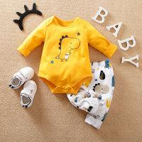 Hibobi - Mameluco y pantalones con diseño de pentagrama de dinosaurio para bebés - Hibobi