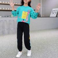 Pantalones y top con estampado de letras Kid Girl - Hibobi