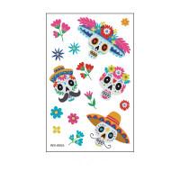Parche de tatuaje del día mexicano de los muertos - Hibobi
