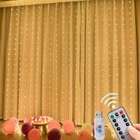 Cadena de lámpara decorativa LED de control remoto USB de 3 * 3 m - Hibobi