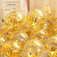 50 globos de látex transparente con lentejuelas de 12 pulgadas - Hibobi