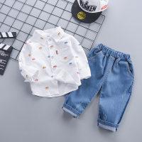 Baby Boy Car Print Long Sleeves Shirt & Pants - Hibobi