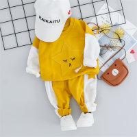 Sudadera con capucha y pantalones color block con estampado de estrellas para bebé - Hibobi