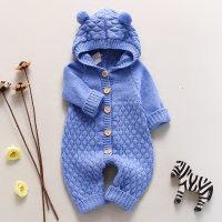Baby Solid Color Long Sleeves Jumpsuit - Hibobi