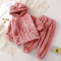 Toddler Girls Flannel Solid Color Pajamas Sets & Pants - Hibobi