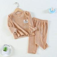Toddler Girls Stripes Solid Corduroy Pajamas Sets Top & Pants - Hibobi