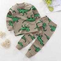 Toddler Boys Animal Basic Cattle Top & Pants Suit - Hibobi