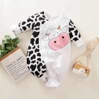 Mono de manga larga con estampado de vaca lechera para bebé de Hibobi - Hibobi