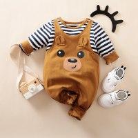 Mono de tirantes de manga larga con estampado de oso de bebé niño Hibobi - Hibobi