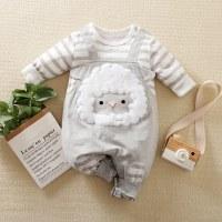 hibobi - Mono de manga larga a rayas con estampado de oveja para bebé niño - Hibobi