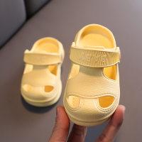 Pantuflas con estampado de letras en color liso para niña pequeña - Hibobi