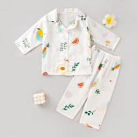Pijama y pantalones de manga larga con estampado de elefante para niña pequeña - Hibobi