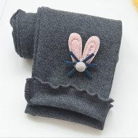 Kid Girl Combed Cotton Stretch Legging Trousers - Hibobi