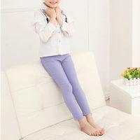 Kid Girl Fall Stretch Slim Fitting Pantalones - Hibobi