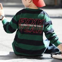 Suéter casual de manga larga a rayas Kid Boy - Hibobi